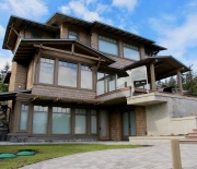 The water / view side of this beautiful home!